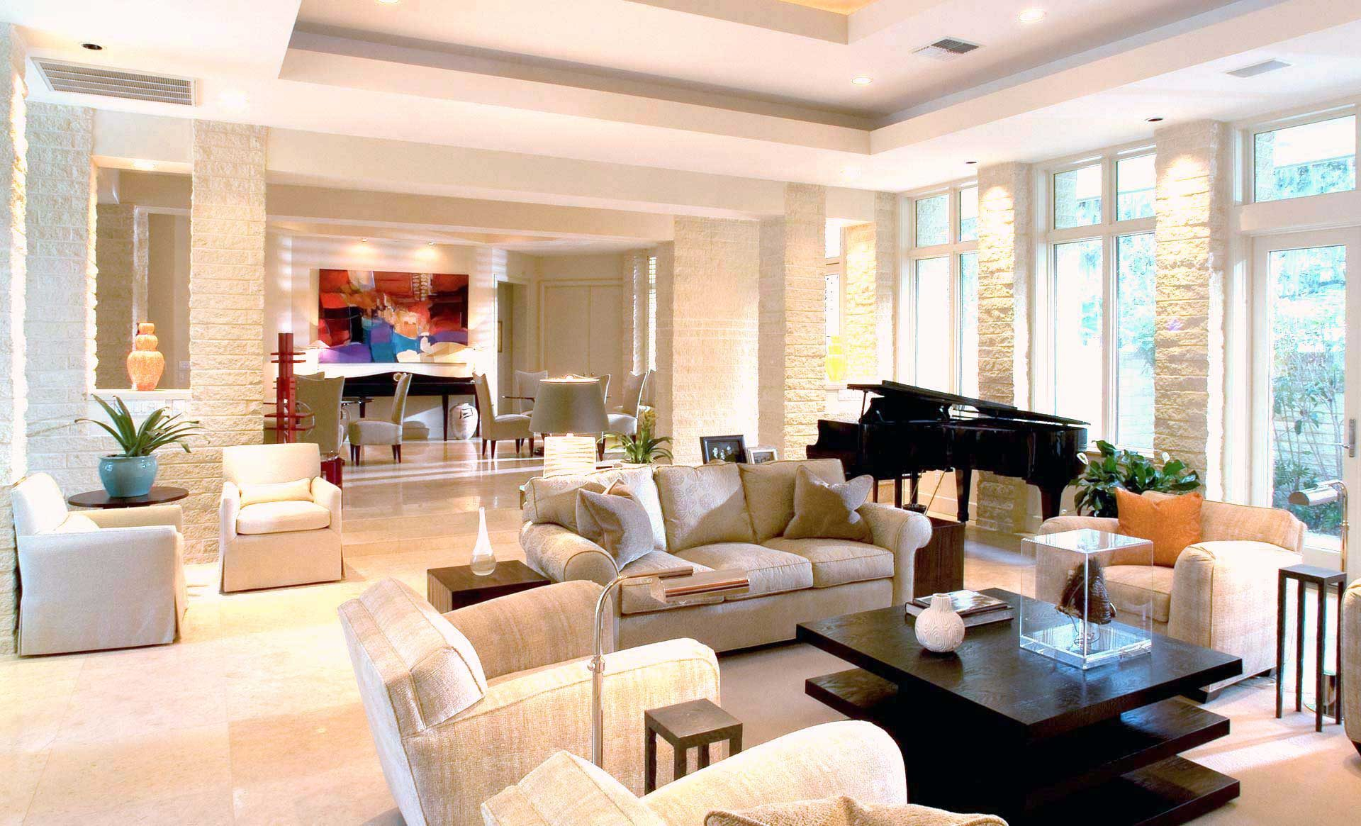Tampa Interior Design Contemporary Living room