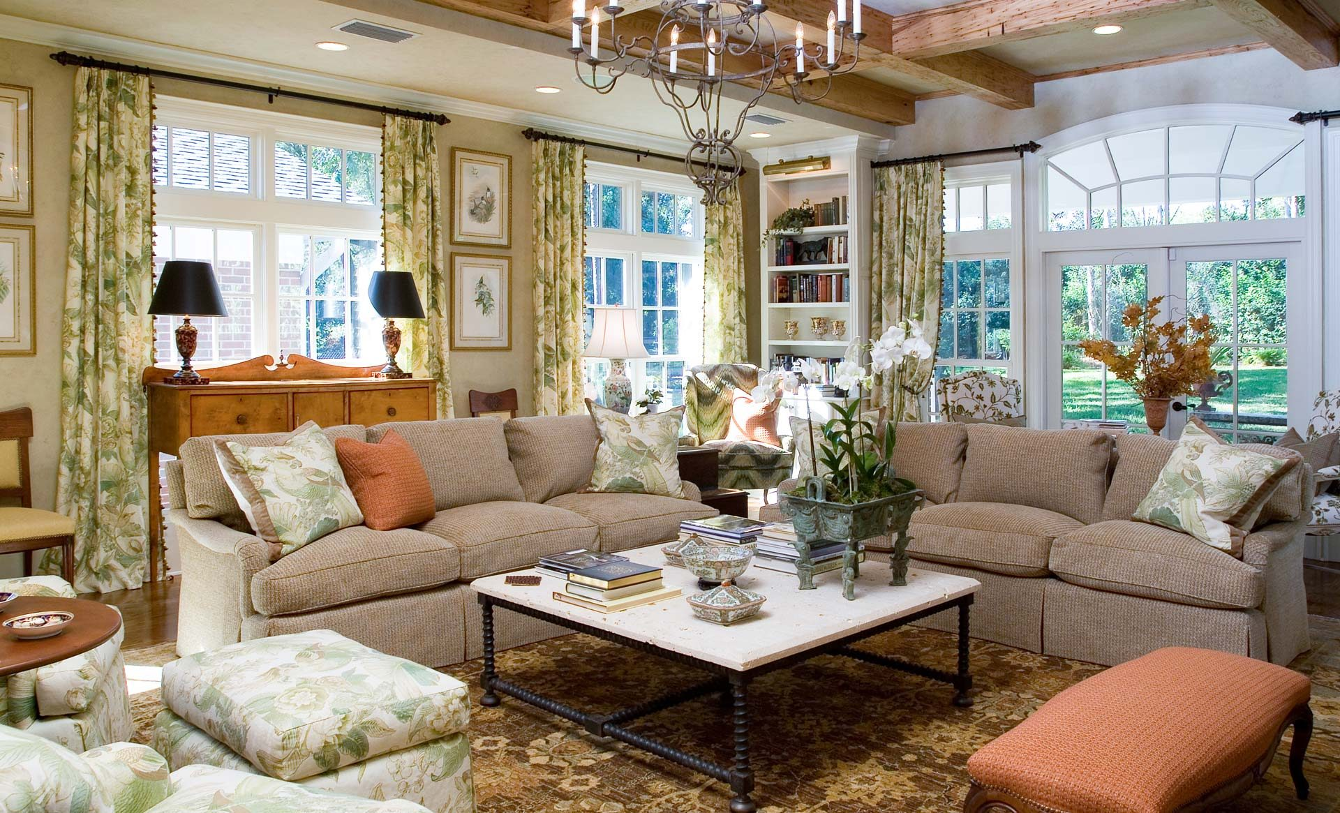 Tampa Interior Design Traditional Living Room