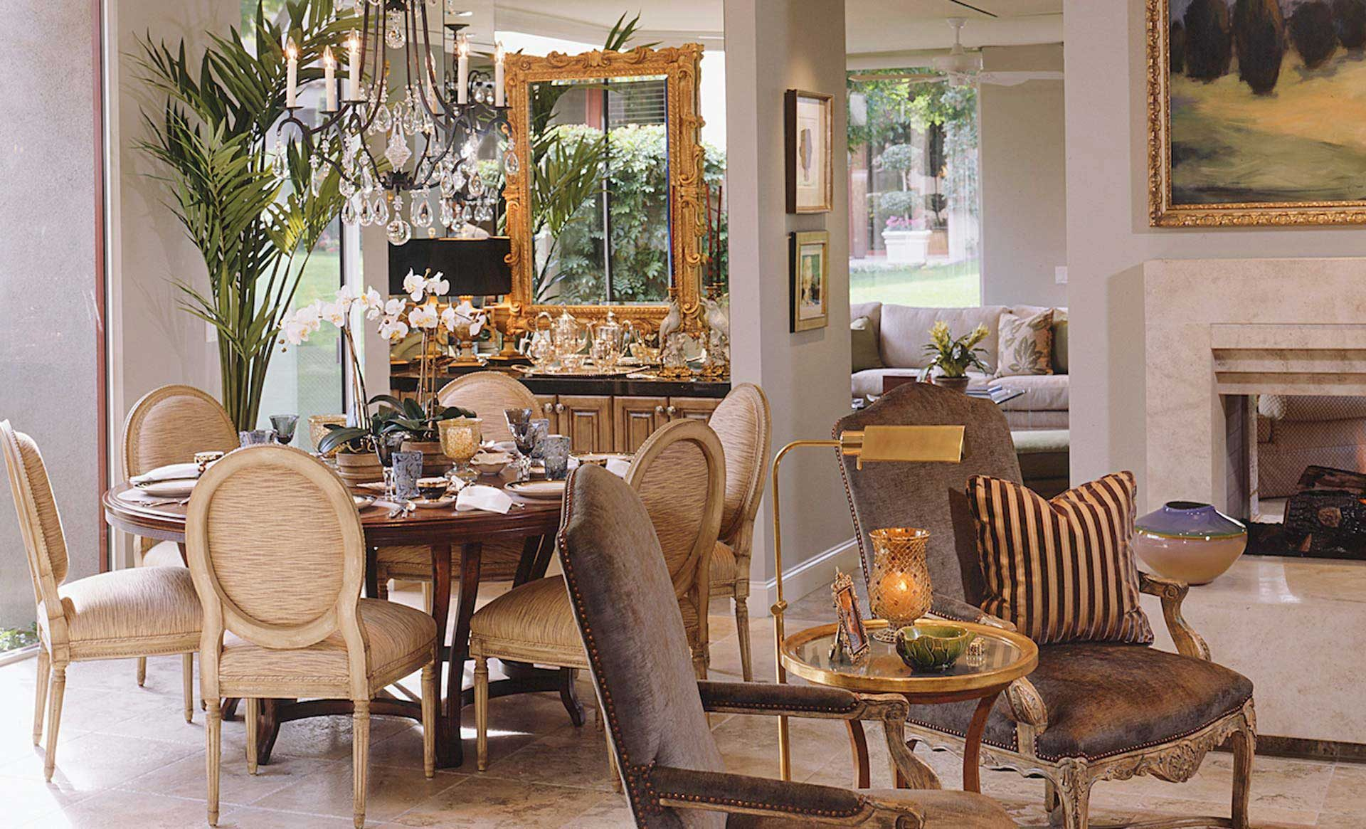 Tampa Interior Design transitional dining room