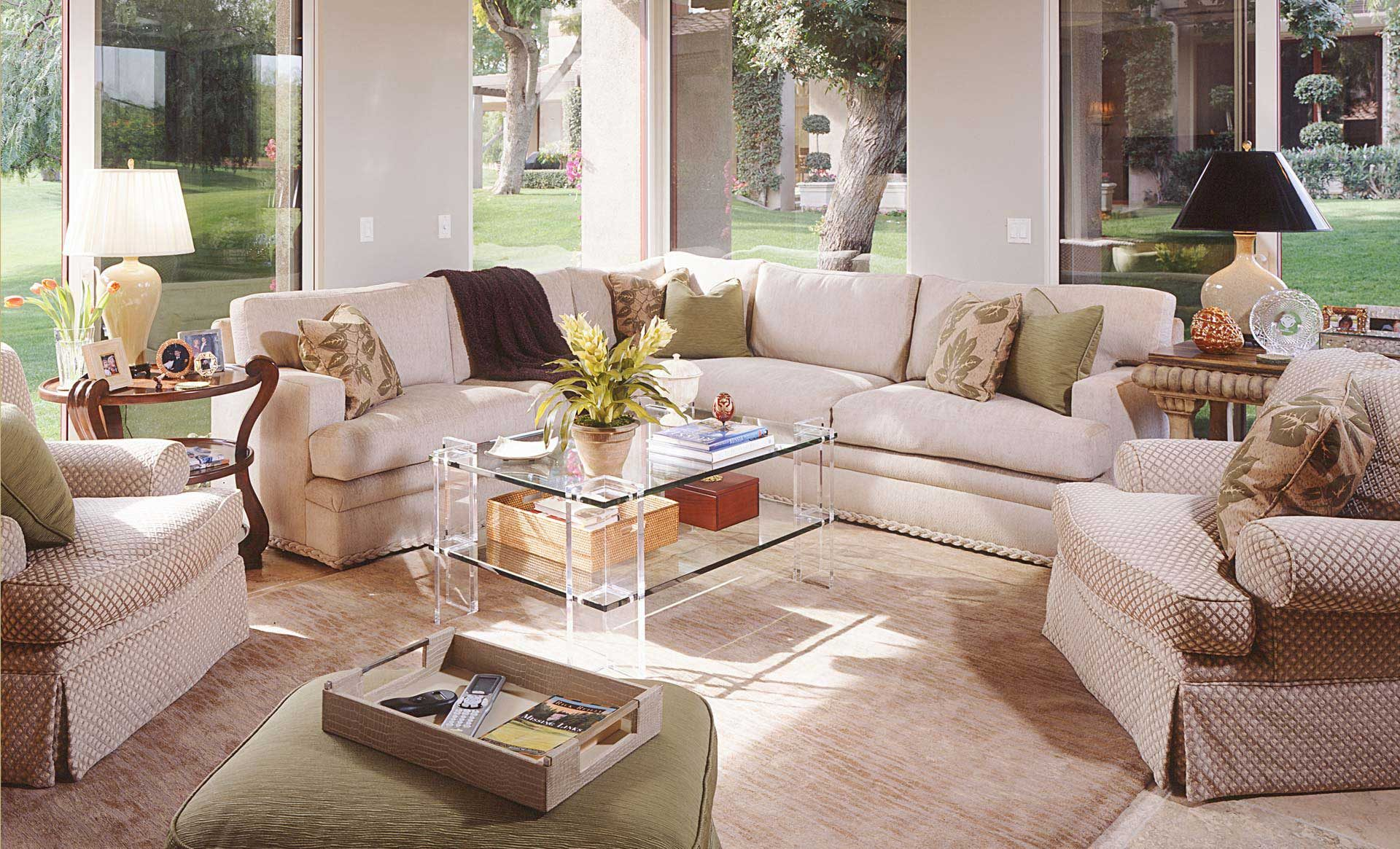 Tampa Interior Design transitional living room