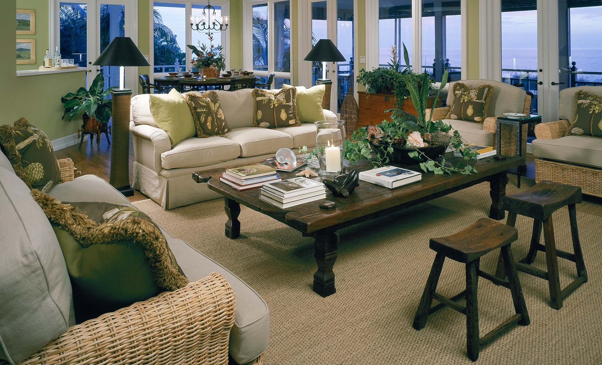 Tampa Interior Design tropical living room